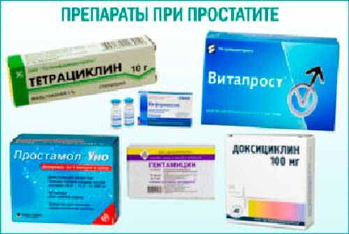 антибиотики при простатит лечение